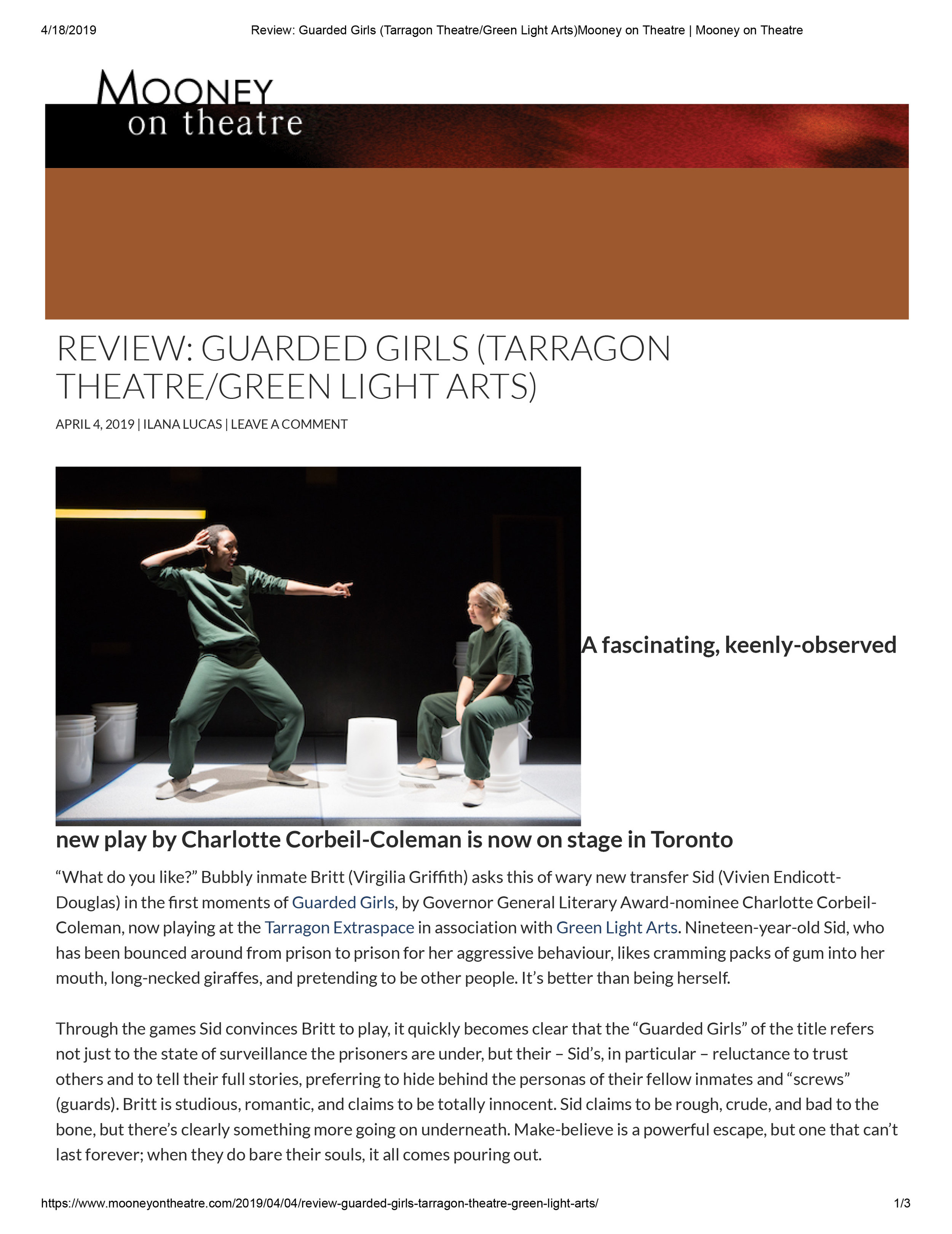 Review_ Guarded Girls (Tarragon Theatre_Green Light Arts)Mooney on Theatre _ Mooney on Theatre.jpg