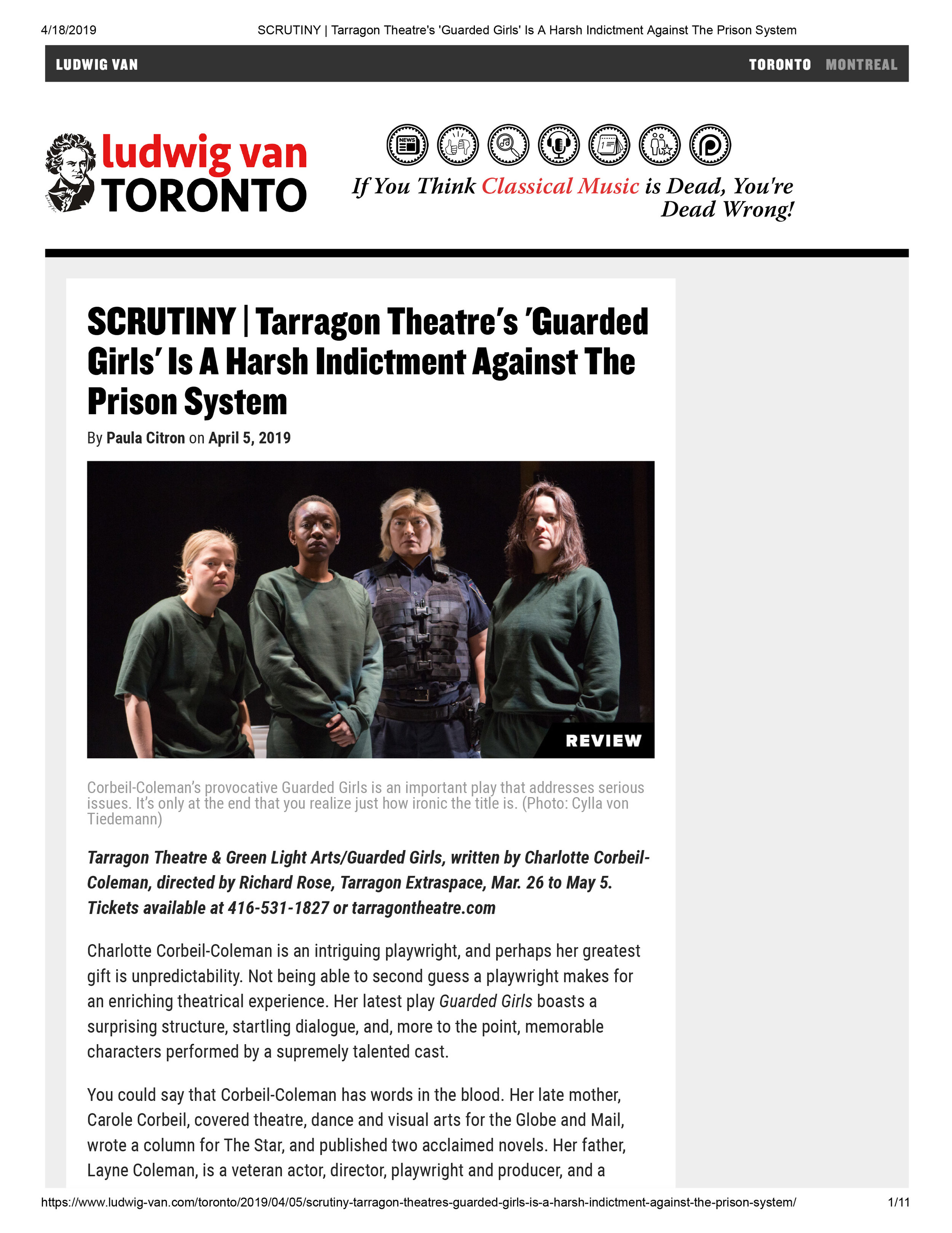 SCRUTINY _ Tarragon Theatre's 'Guarded Girls' Is A Harsh Indictment Against The Prison System.jpg