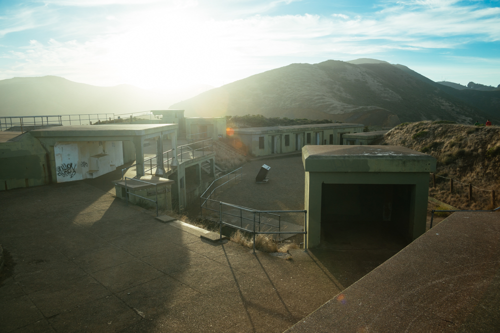 The abandoned area of Marin Headlands' lookout point