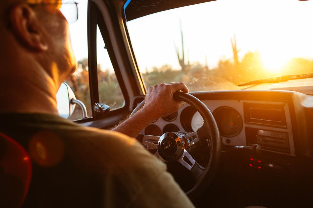 Driving through Saguaro National Park