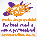 This was my first logo Donnas Creations…seemed fitting at the time.