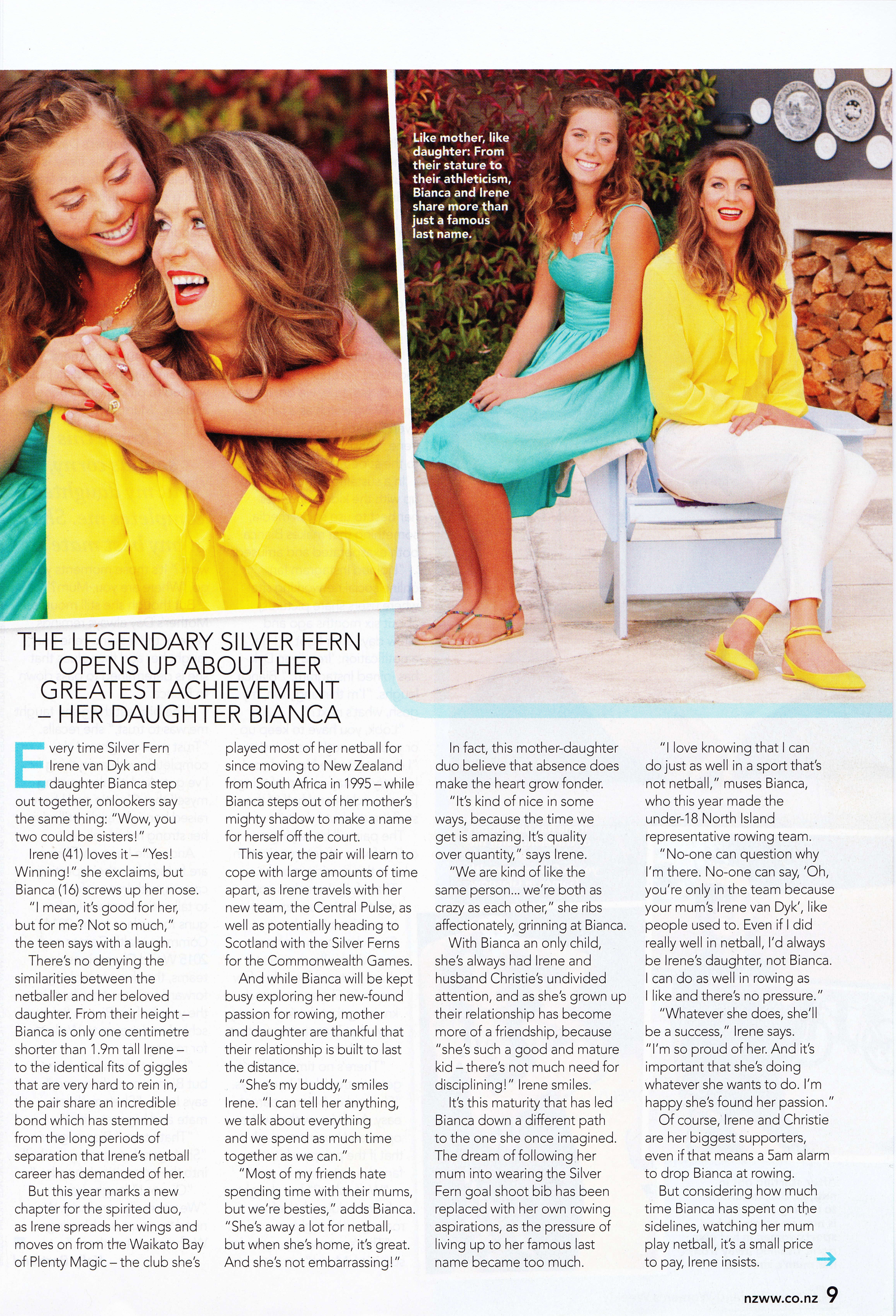 New Zealand Women's Weekly cover story, 2014