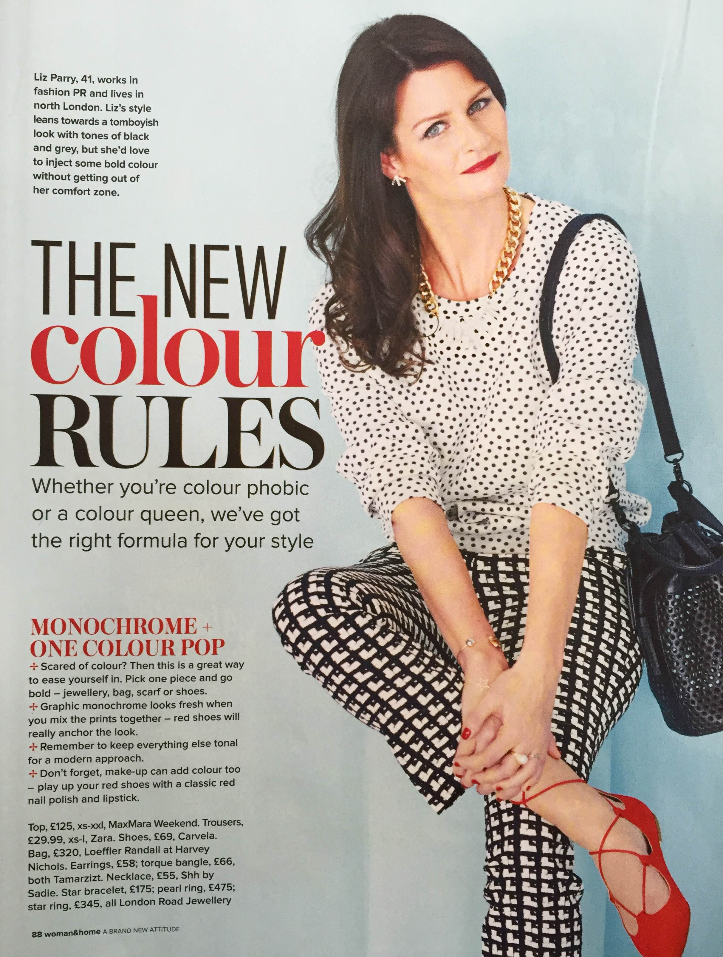 Woman and Home magazine Shh by Sadie fashion feature UK April 2016