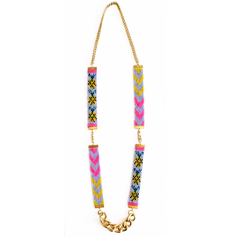 Shh by Sadie designer braided pineapple necklace