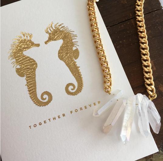 designer bridal jewellery crystal quartz necklace by nz jewellery designer shh by sadie