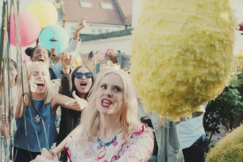 Kate Nash Good Summer music video wearing Shh by Sadie quartz necklace