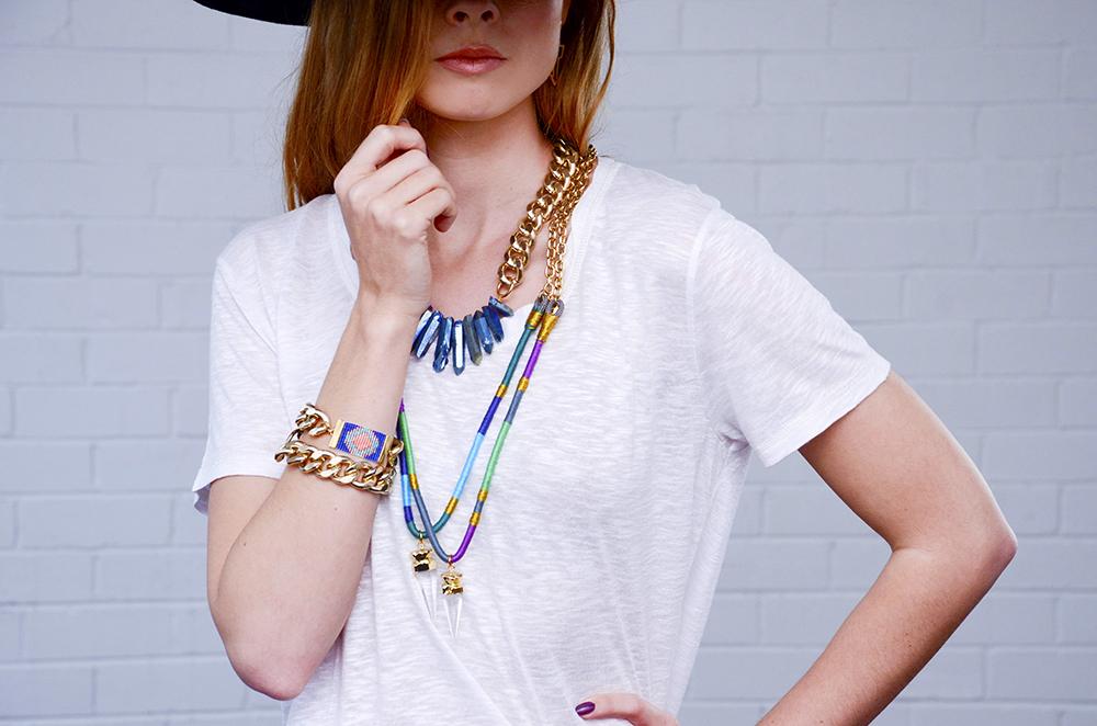 Shh by Sadie designer crystal necklaces