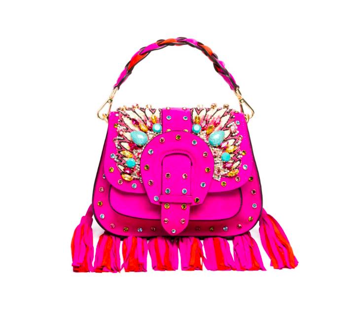 gedebe embellished tassel bag