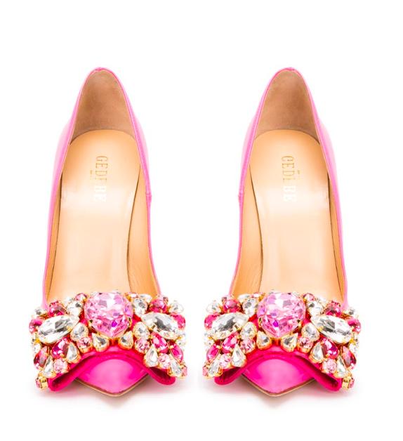 gedebe embellished court shoe pink
