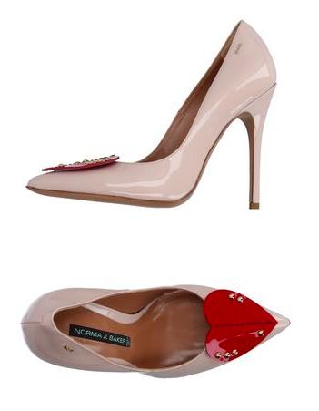 norma j baker court shoes heart