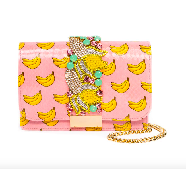 Gedebe designer banana print handbag