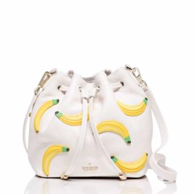 Kate spade banana print mini bucket bag