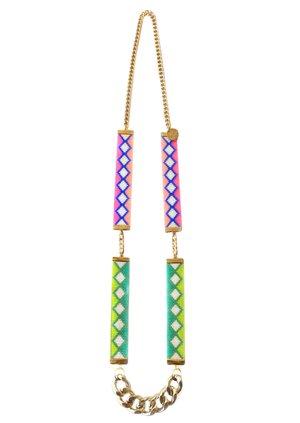 Ibiza neon statement necklace by British jewellery designer Shh by Sadie