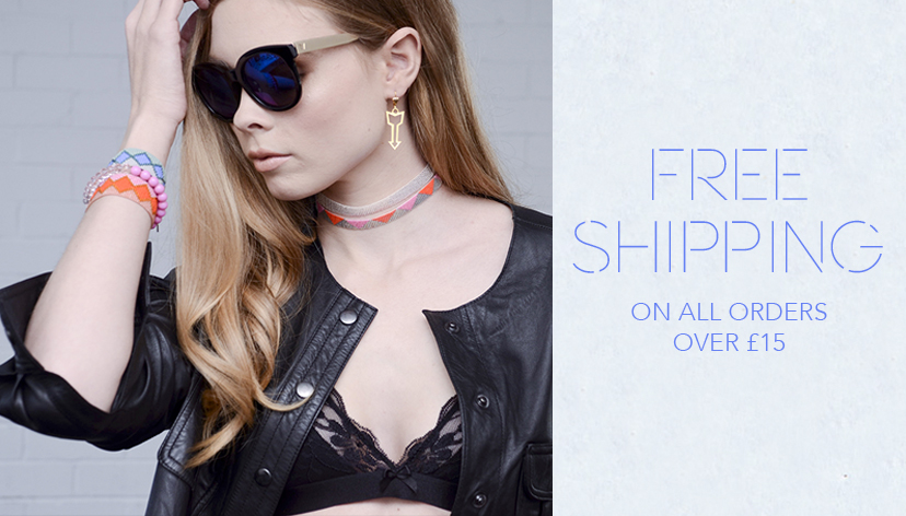 free worldwide shipping on all jewellery