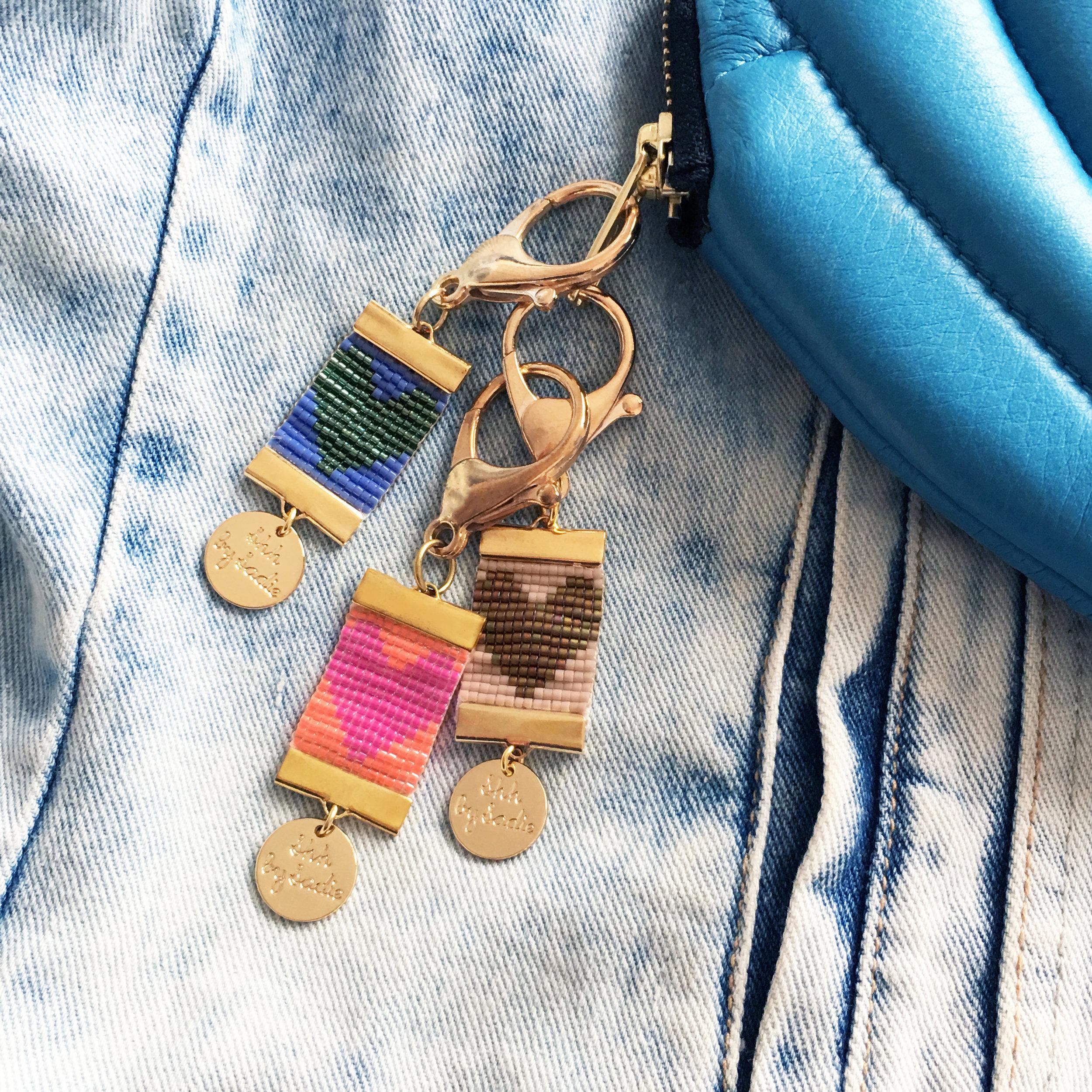 Shh by sadie designer bag charm handmade in England by Welsh jewellery designer Sadie Hawker