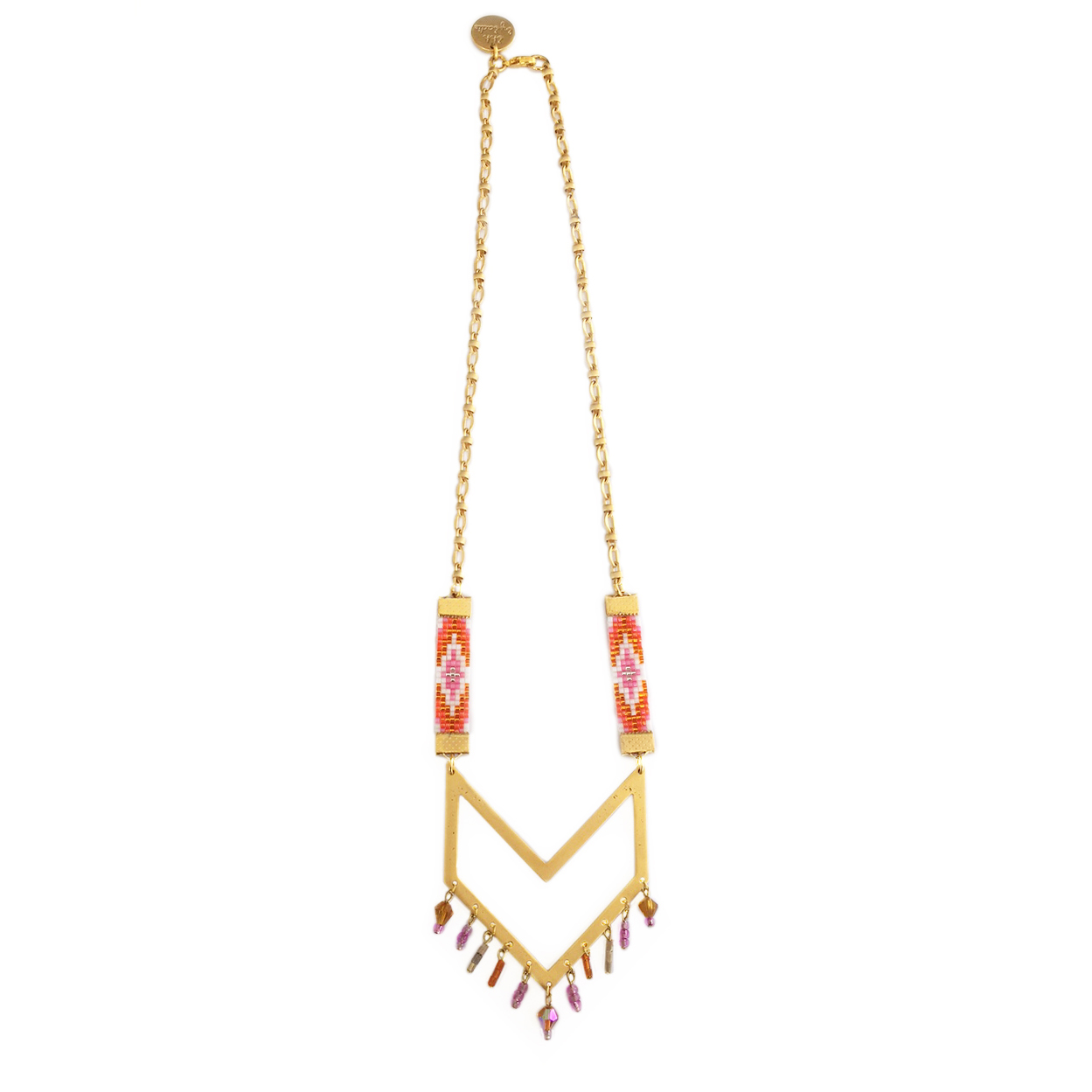 orange resort wear statement necklace by British jewellery designer shh by sadie