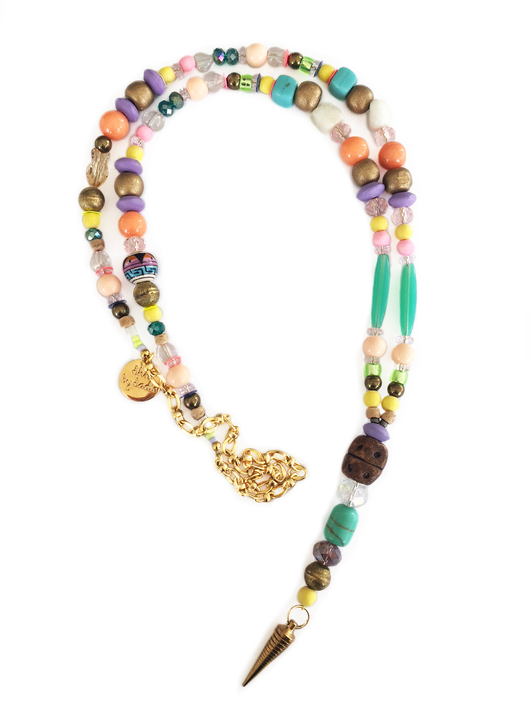 spike statement necklace handmade in England