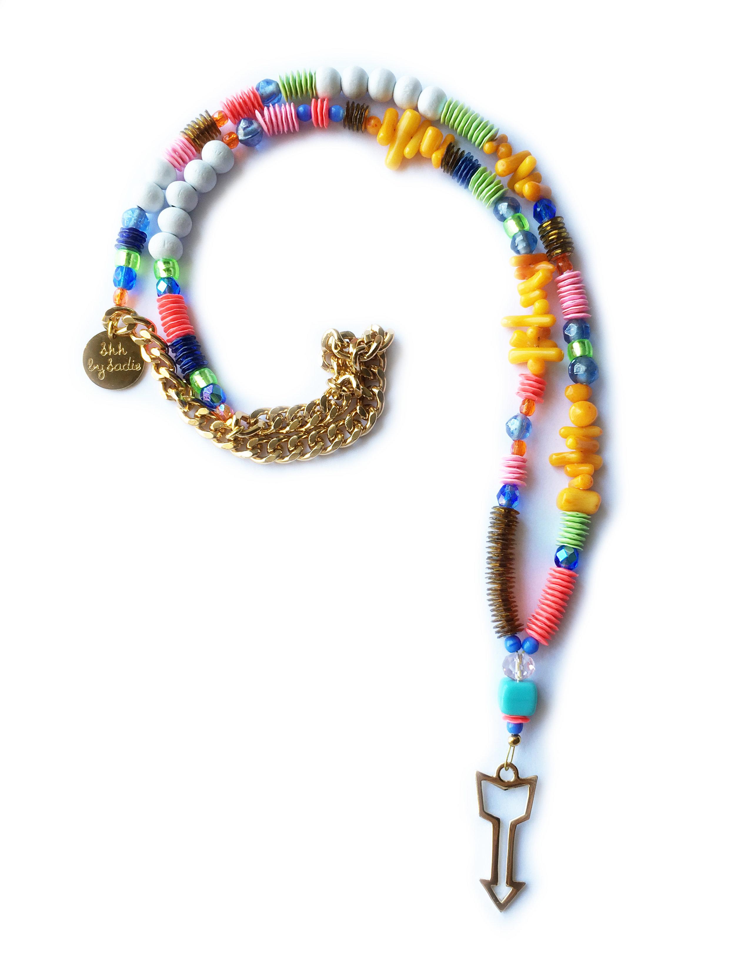 neon statement necklace ibiza style jewellery