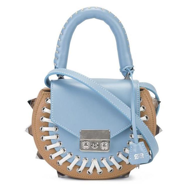 blue leather salar mimi bag