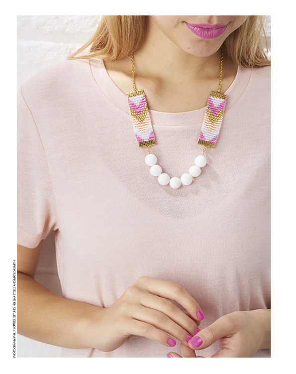 Mollie Makes beaded necklace tutorial by Shh by Sadie