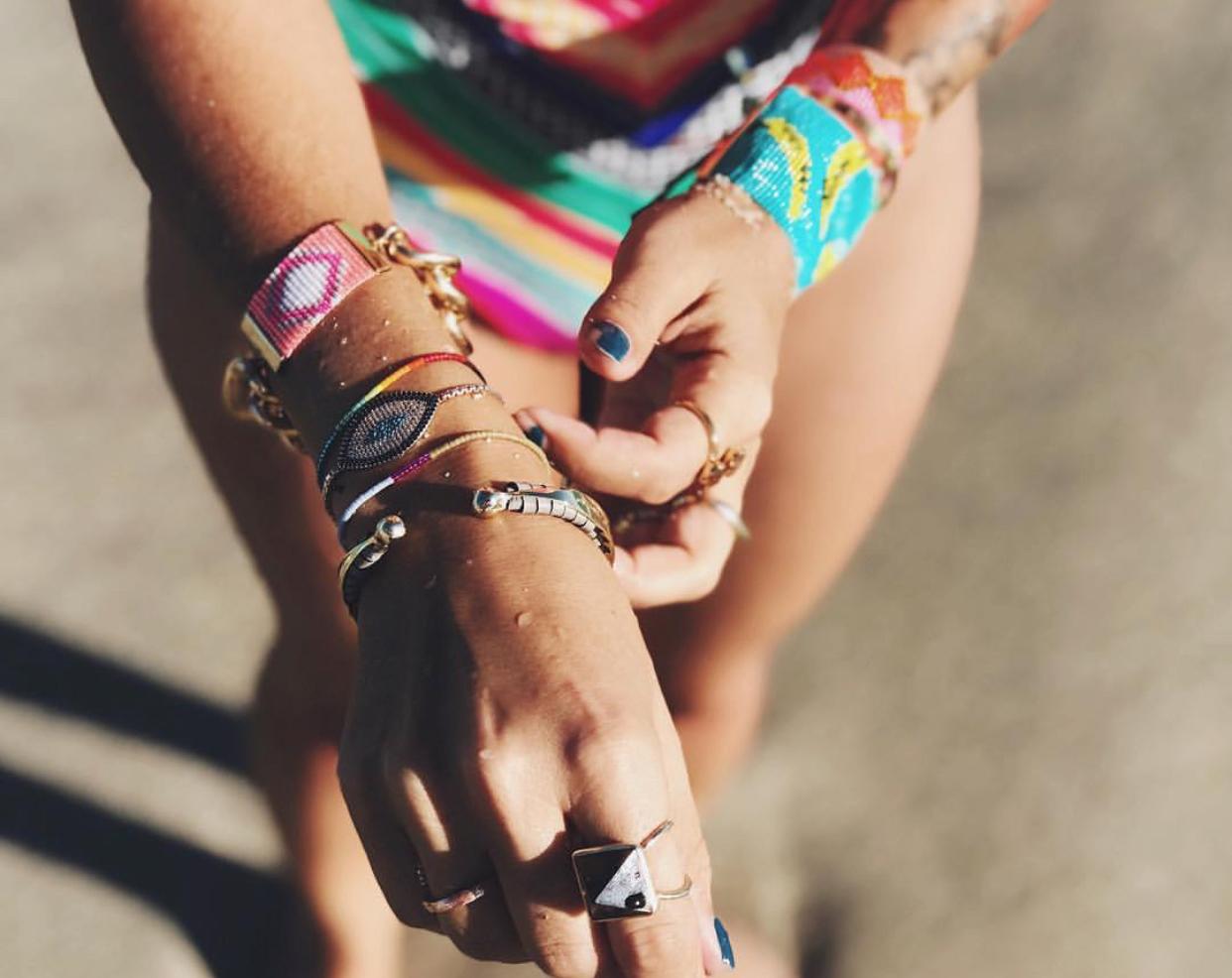 Resort wear bracelets worn by Disfunkshion Magazine