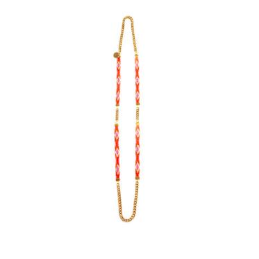 long orange necklace festival and resort summer jewellery