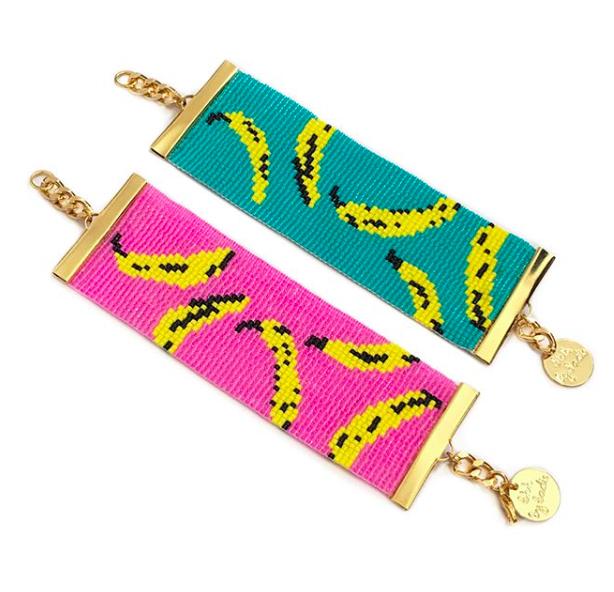 Shh by Sadie Banana print bracelet handmade mollie makes awards 2018 finalist