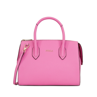 Pink Furla pink pin satchel bag