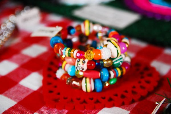 A one of a kind beaded cuff