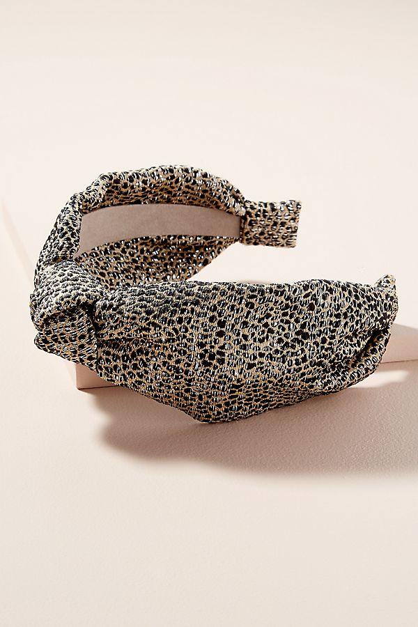 Metallic Leopard-Print Headband