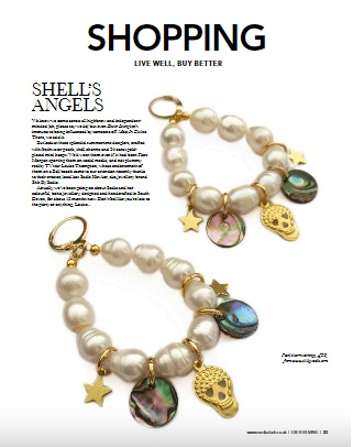 Shh by Sadie Pearl Charm earrings featured in Exeter Living Magazine