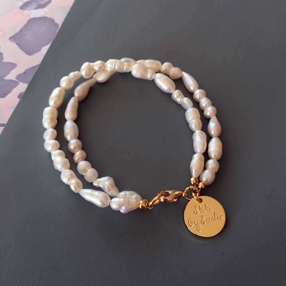 seed pearl two strand bracelet