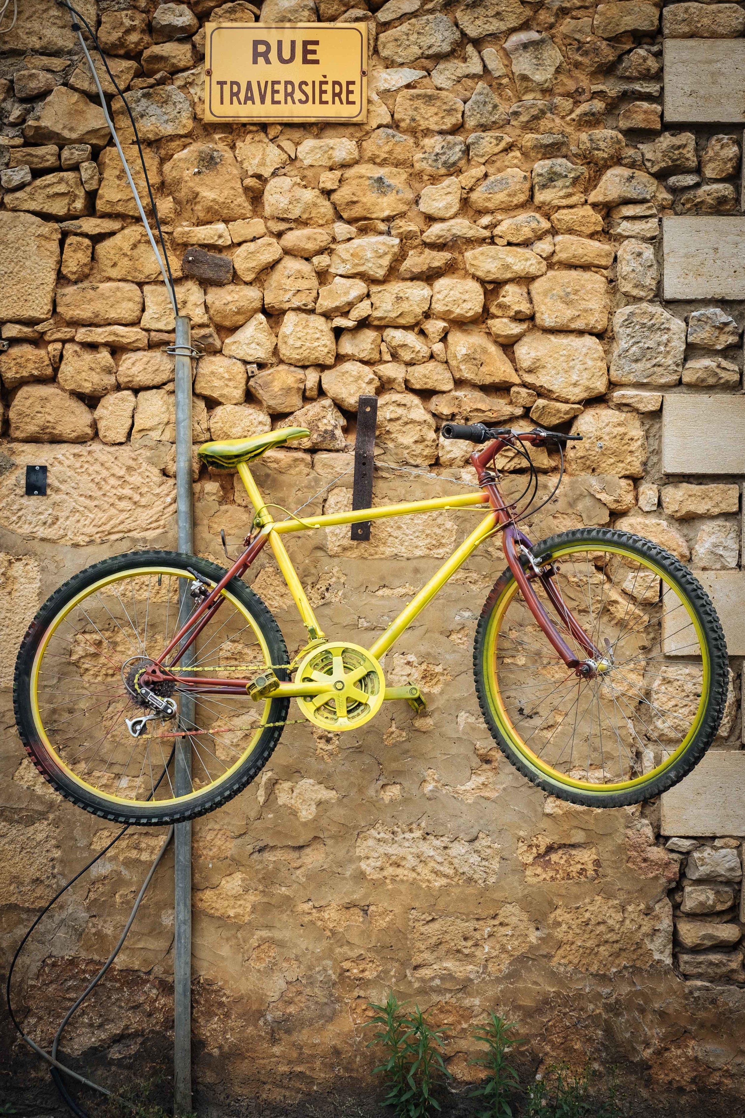 corner street bicycle