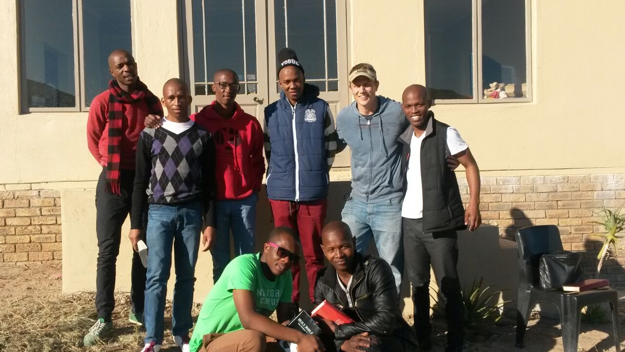 Some of our graduates with Neil Hall from Hebron Community Projects.