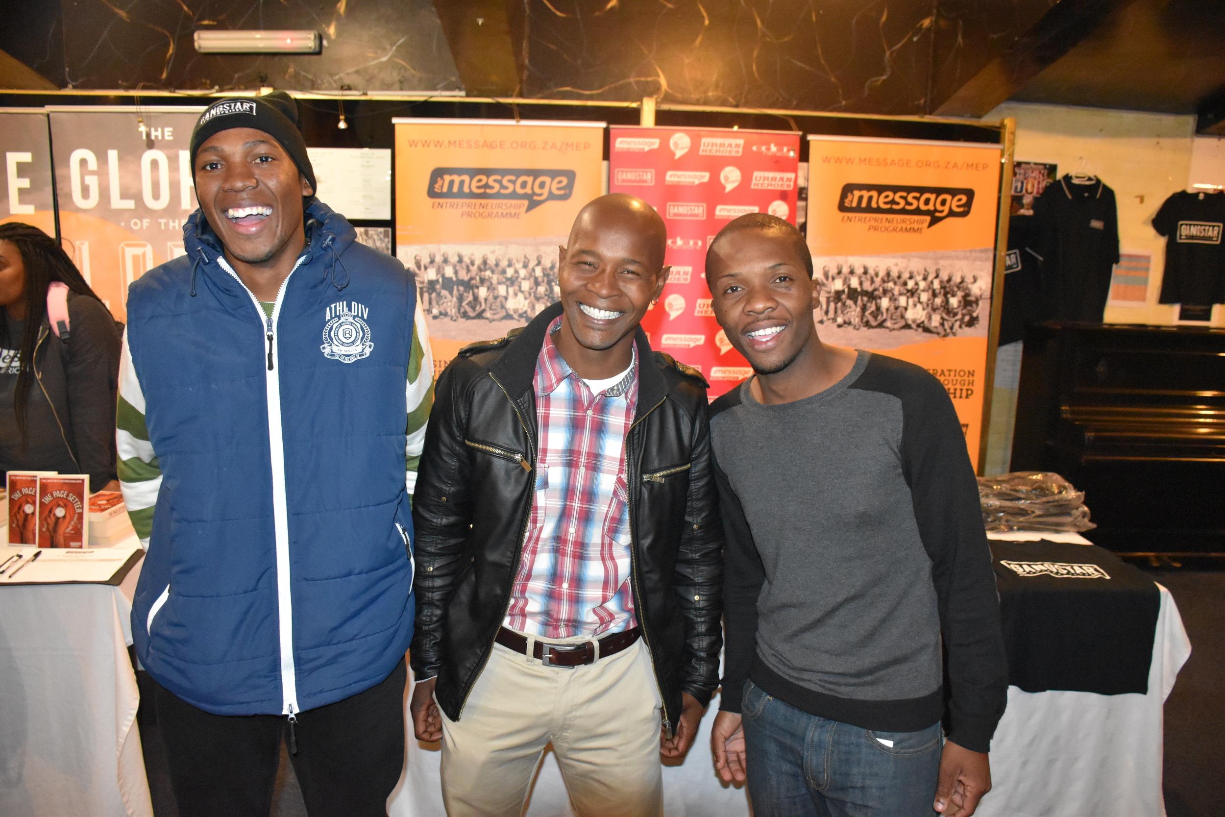 Chumani, Themba and Siviwe enjoying the night!
