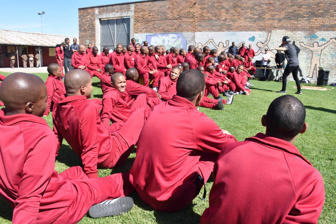 Twelve24 performing to inmates at Drakenstein Youth Centre.