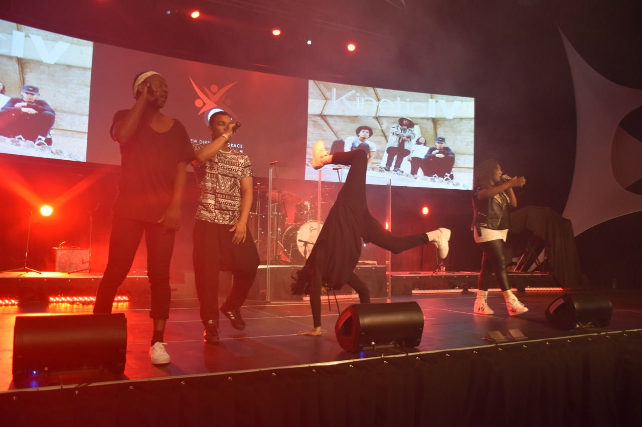 KineticIV performing at one of the concerts in Cape Town.