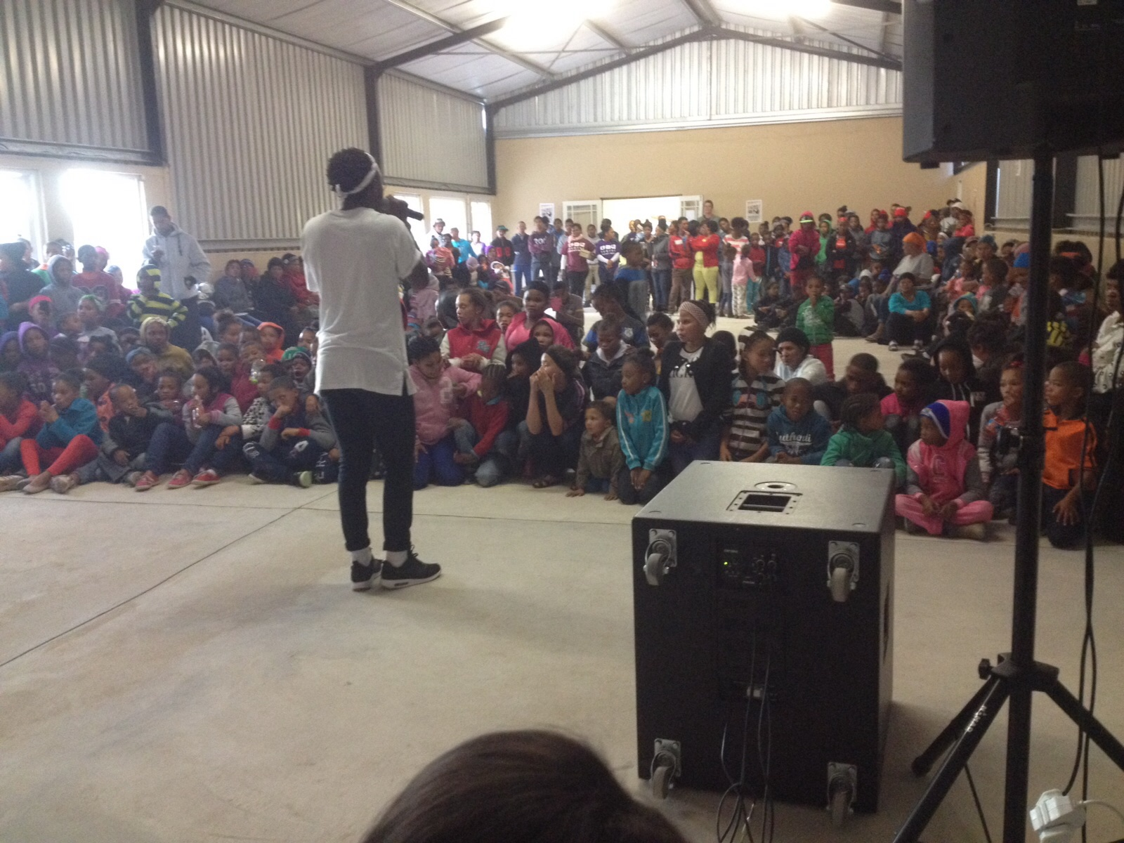 Jabulani Majola sharing with the children