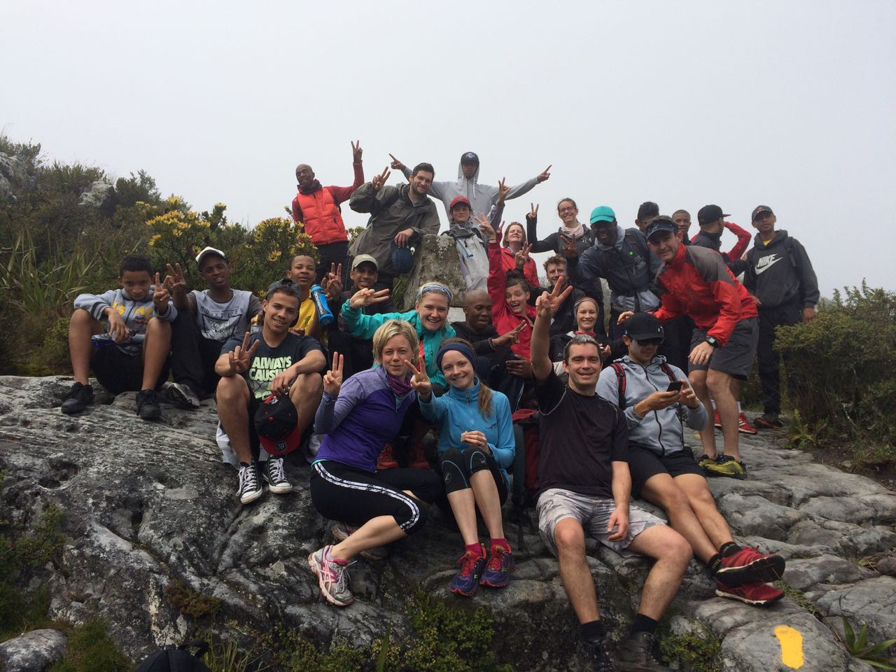 3 Peaks Team after climbing Table Mountain