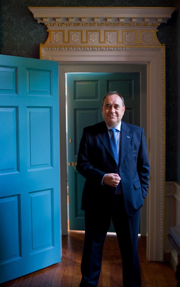 Alex Salmond MP, in Duff house, Banff, Aberdeenshire