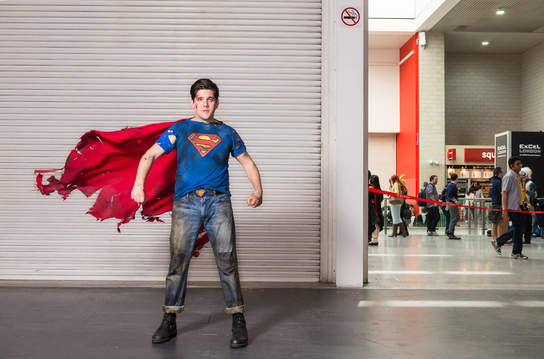 Jimmy Mann, as apocalyptic superman