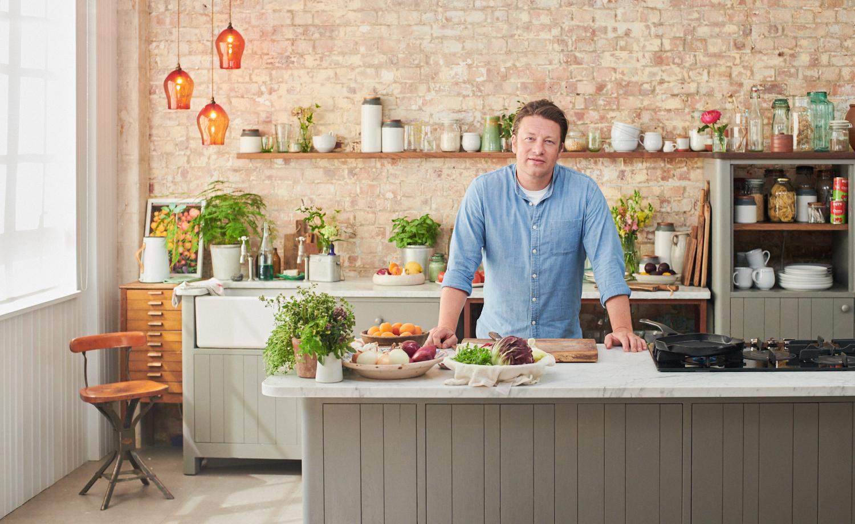 Jamie Oliver in his HQ in London.