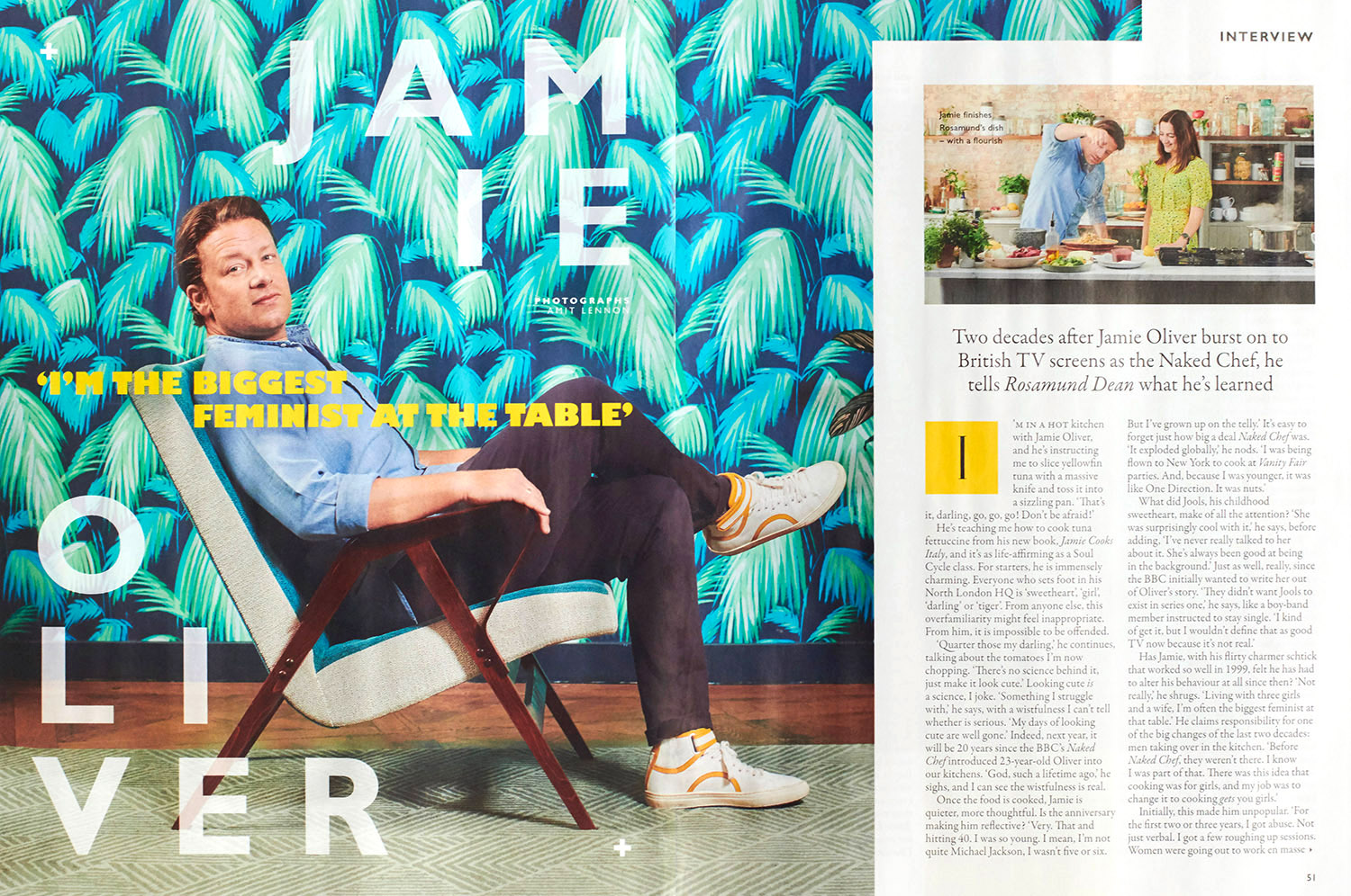 Grazia Cutting, Double page spread, NHS and JAmie Oliver