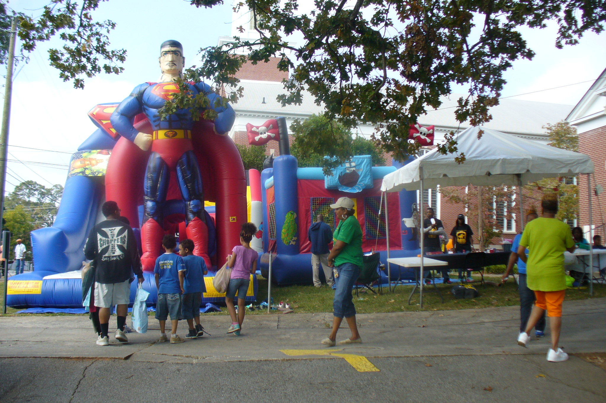 Kids Zone. Hey, is that Superman's cousin?