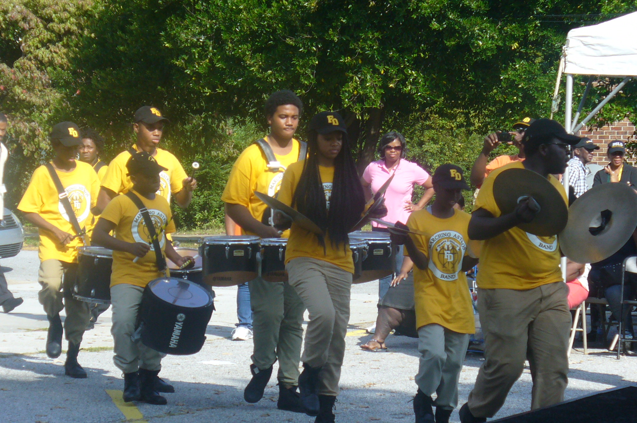 Drum line competitors. Going for the gold.