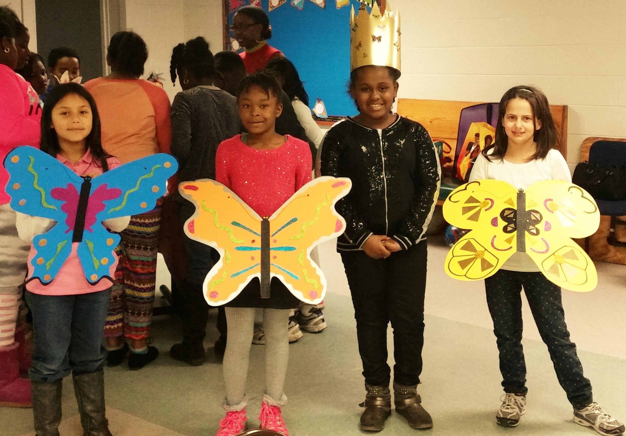 Nundi and her butterflies.