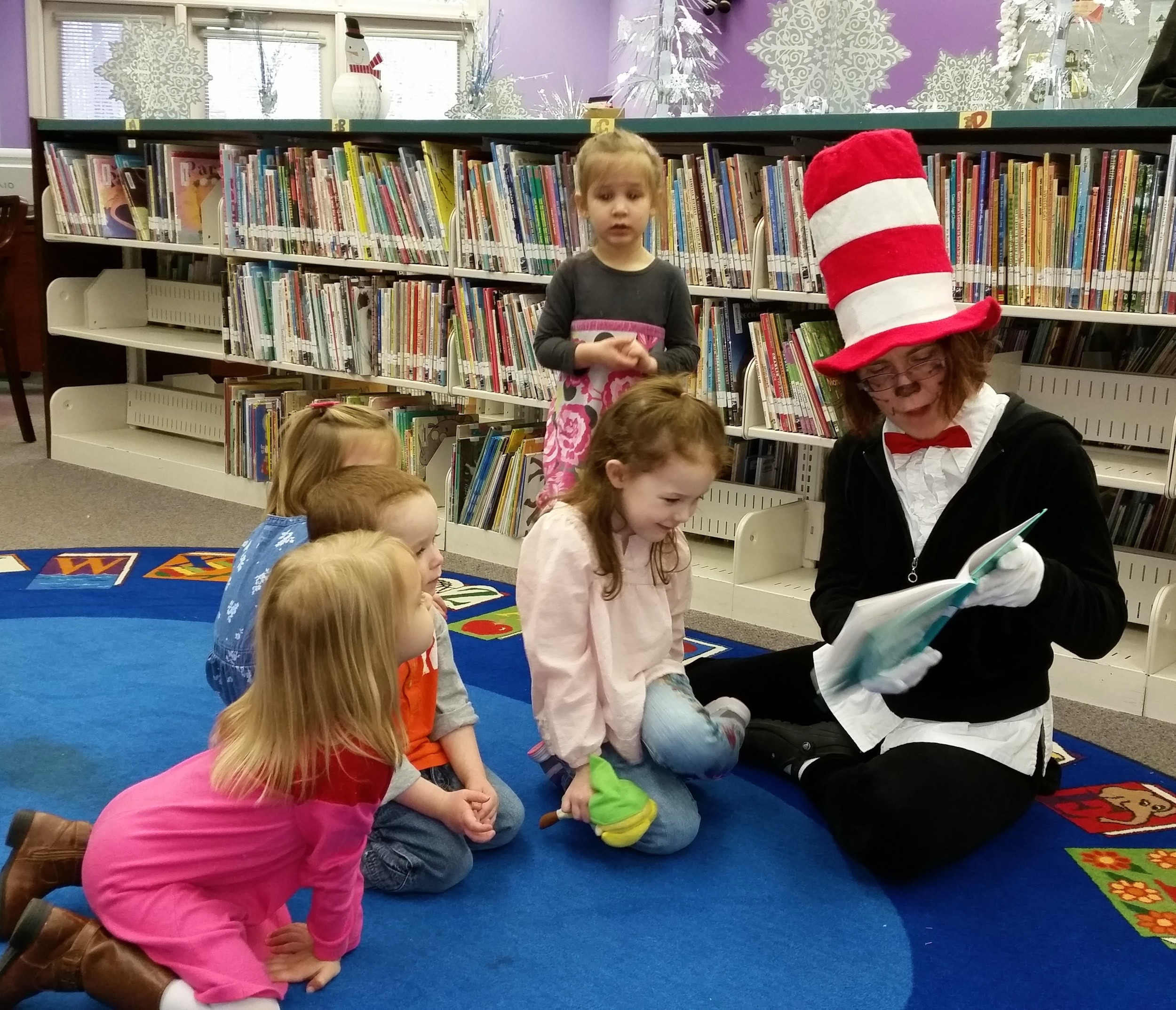 In honor of Dr. Suess week, the Cat in the Hat dropped by and gave the kids a special treat.