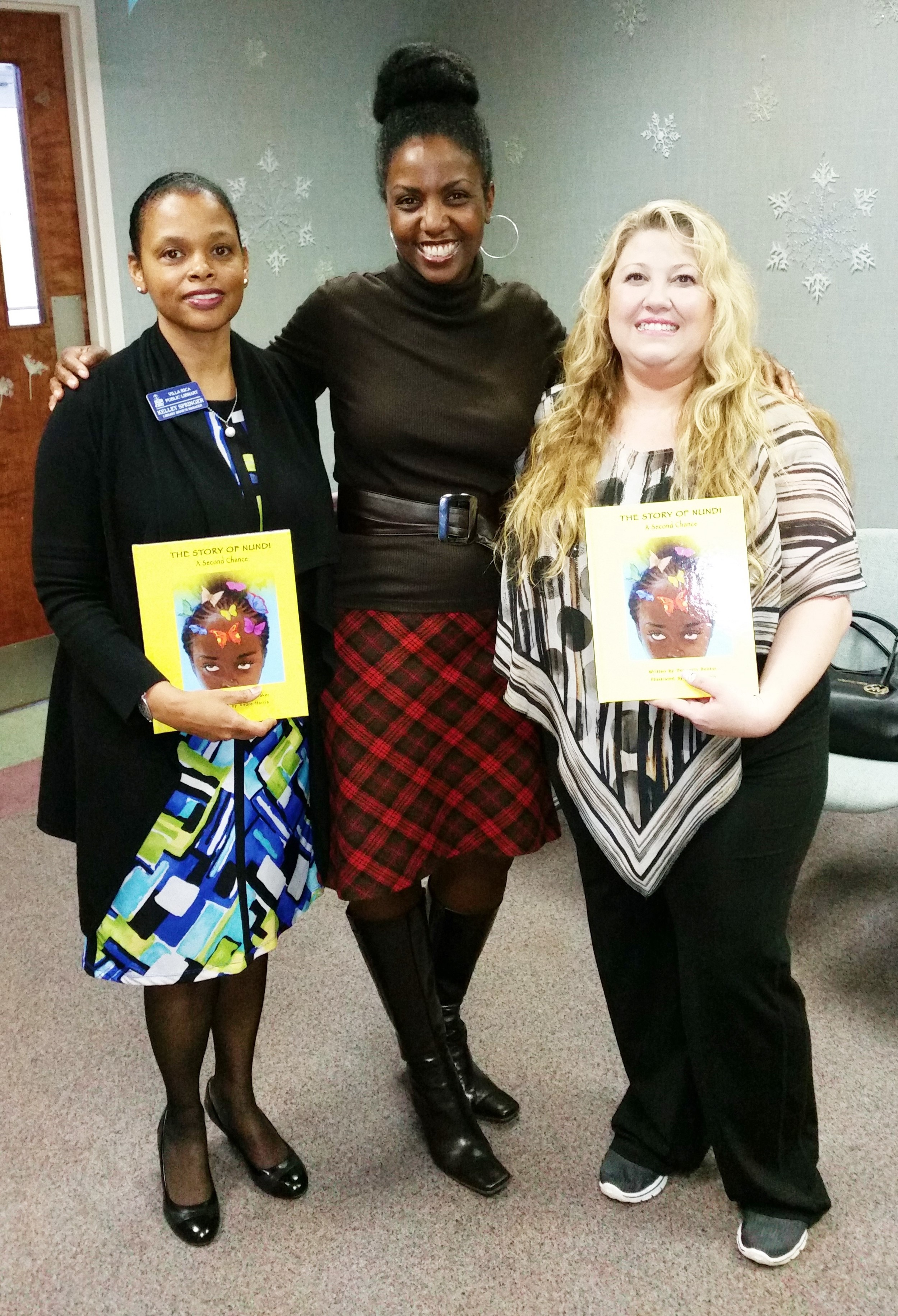 With Kelley Springer (Branch Manager) and Laura Frey (Library Children's Activities).