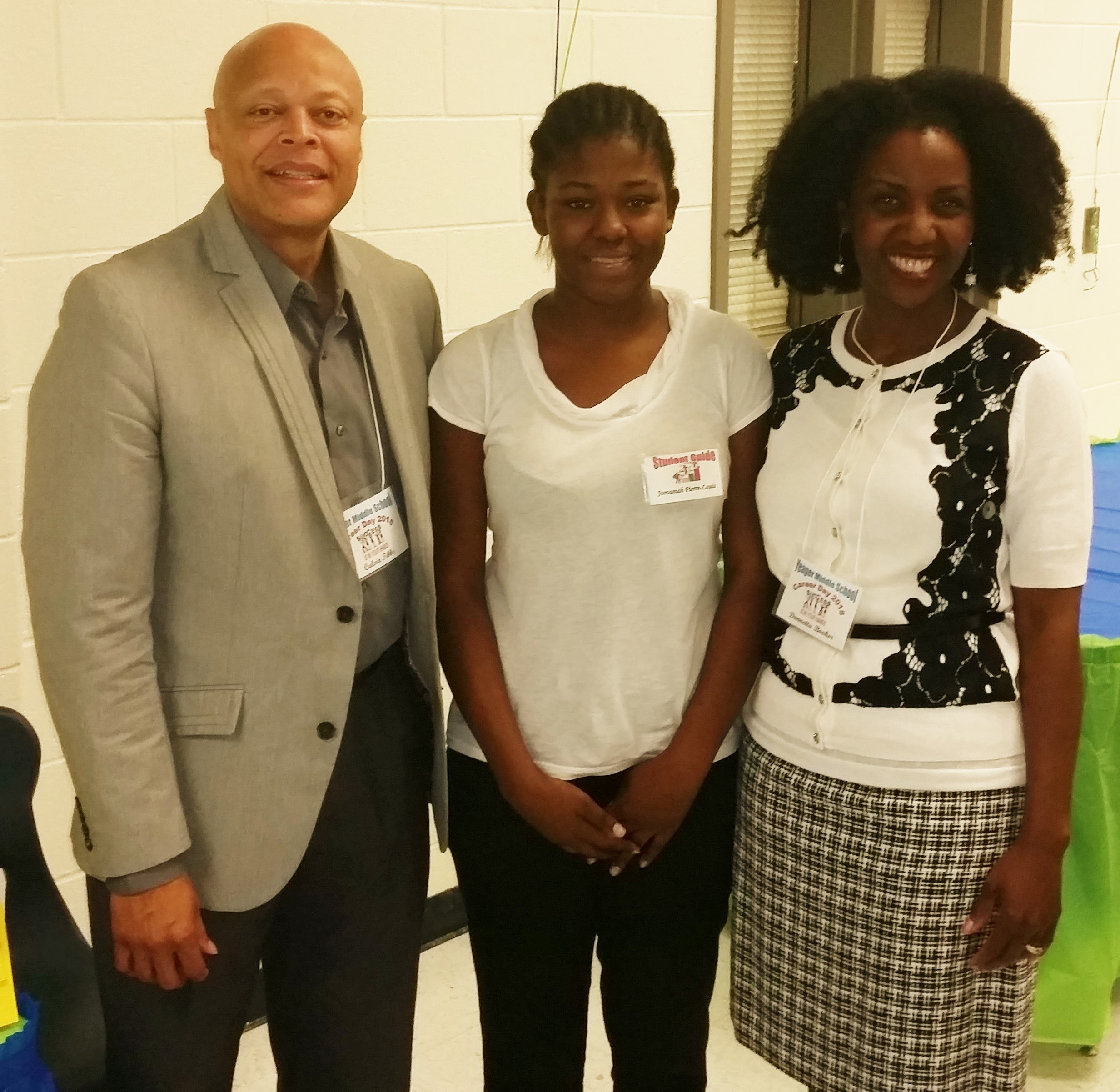 With my room partner, Pastor Calvin Tibbs of Kingdom Dominion Church in Villa Rica, and our lovely student guide.  She took great care of us.