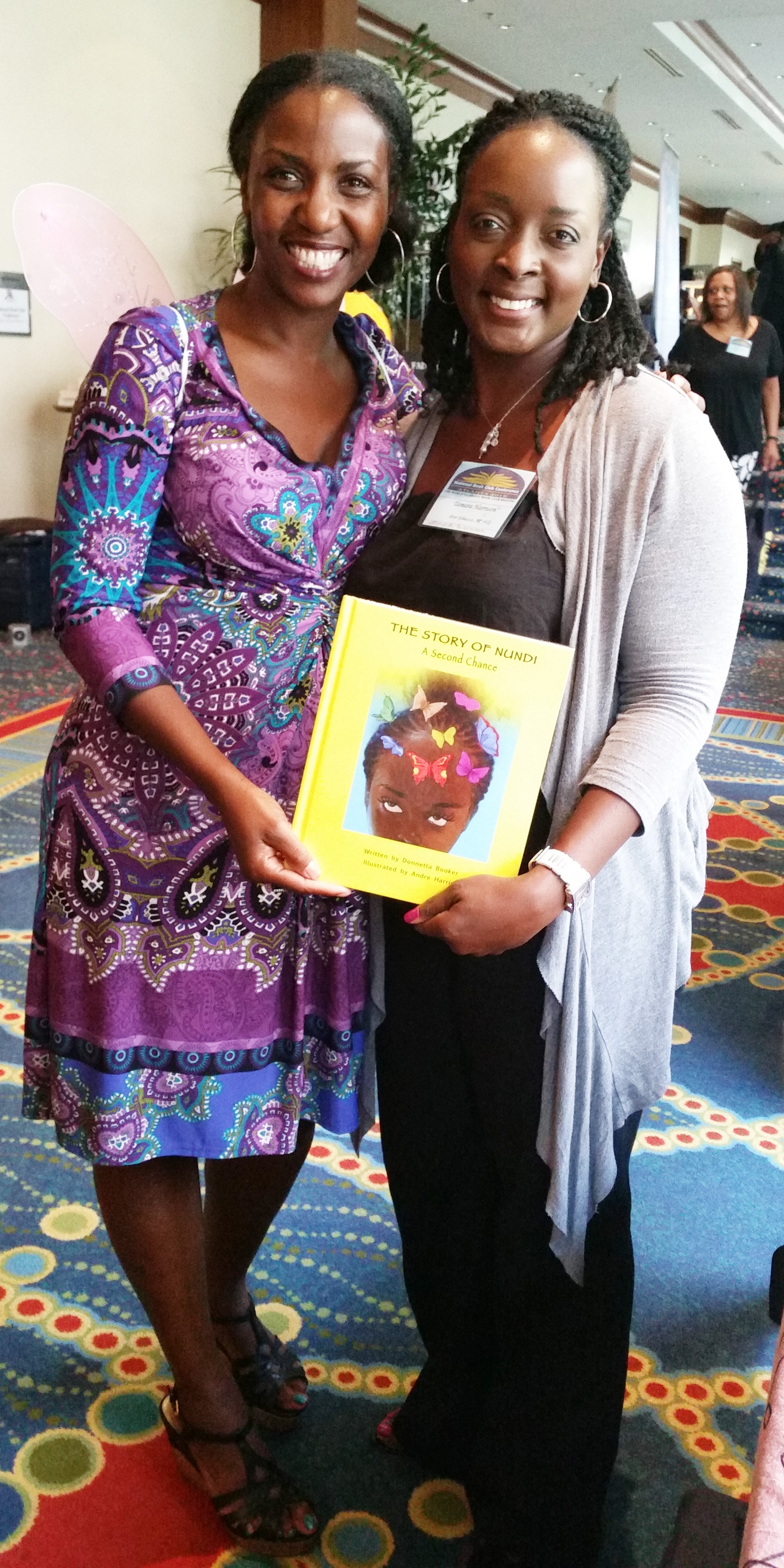 """She saw Nundi and had to buy the book because, """"She looks just like my daughter."""" <3"""